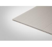Сотовый поликарбонат Полигаль 10,0 мм 2100x6000 м серебристый 18% ГОСТ