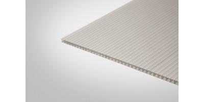 Сотовый поликарбонат Полигаль Практичный 8,0 мм 2100x6000 м серебристый 18%