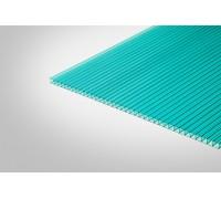Сотовый поликарбонат Полигаль 8,0 мм 2100x6000 м бирюзовый 52% ГОСТ