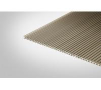 Сотовый поликарбонат Полигаль 4,0 мм 2100x6000 м бронзовый 42% ГОСТ