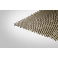 Сотовый поликарбонат КИВИ 10,0 мм 2100x6000 м бронзовый 42%