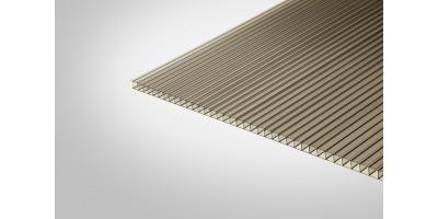 Сотовый поликарбонат Полигаль 6,0 мм 2100x6000 м бронзовый 42% ГОСТ