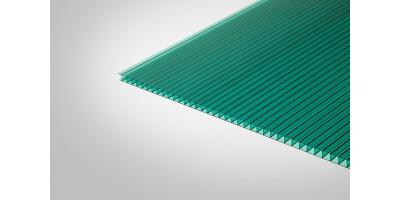 Сотовый поликарбонат КОЛИБРИ 6,0 мм 2100x6000 м зеленый 30%